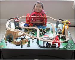 kidkraft metropolis train set and table toy train