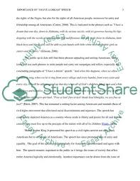 Importance Of I Have A Dream Speech Essay Example Topics