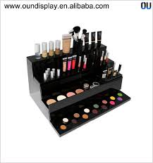 black acrylic mac makeup display 3 shelf acrylic eyeshadow palette display  stand