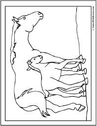 Use the black lines as a guide and have fun. Horse Coloring Page Riding Showing Galloping