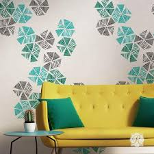 colorful wall art stencils to decorate a modern room royal design studio on wall paintings artistic with wall art wall mural stencils for painting diy wall stencils