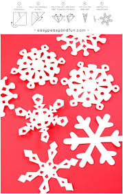How To Make Paper Snowflakes Pattern Templates Easy