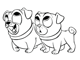 Puppy Dog Pals Coloring Pages Free Christmas Book And Sheets Also