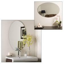 Bathroom Wall Mirrors Frameless Wonderful Bevelled Edge Oval ...