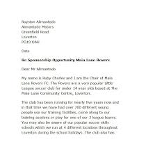 free sponsorship letter template 11