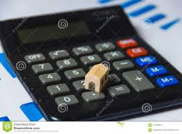 Home Mortgage Finance Calculator Mortgage Loans Concept With Wooden House And Calculator On White