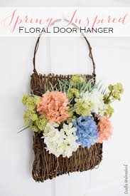 supplies needed to make your own spring diy door decor links1