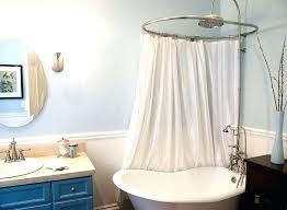 garden tub curved bath shower curtain rod rail curved