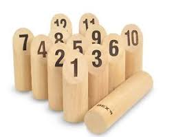 Lawn Game With Wooden Blocks Number Kubb Garden Beach Lawn Wooden Game with Pins and Stick by 78