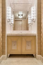 powder room furniture. The Space Was Designed By Noel Jeffrey. Vanity Cabinet Found Below Is Composed Of Sycamore Wood With Hammered Nickel Plates And Diamond Shaped Pulls. Powder Room Furniture