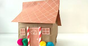 Paper Gingerbread House Paper Gingerbread House Printable