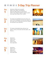 Trip Itinerary Template Free Download Edit Fill Create