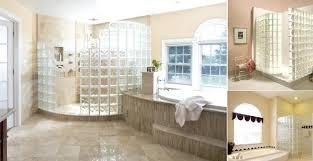 glass block walk in showers bathrooms glass walk in shower glass shower walk in glass block