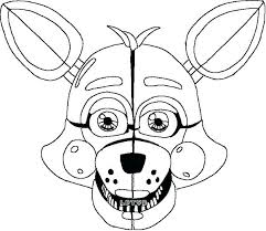 Foxy Coloring Pages Five Nights At Mangle Page Fresh Excellent
