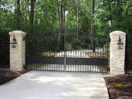 Stone Entry Gate Designs Gates Rios Fence Company