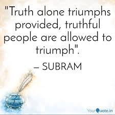 Truth Quotes Awesome Truth Alone Triumphs Pro Quotes Writings By