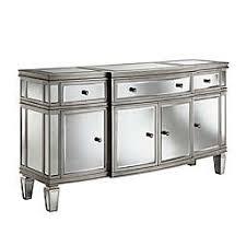 Mirrorred furniture Gold Stein World Gabrielle 4door Sideboard In Silver Bed Bath Beyond Mirrored Furniture Bed Bath Beyond
