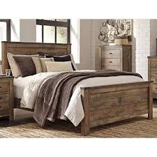 Contemporary Rustic Oak King Size Bed - Trinell | RC Willey ...