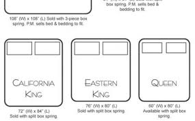 Furniture Measurements California King For Size Beds Stunning