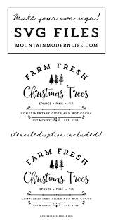 Information about the tree farm and its owner. Farm Fresh Christmas Trees Svg File Mountainmodernlife Com