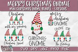 Want a stylish gnome ornament for you christmas tree or a farmhouse gnome? Christmas Gnomes Svg Merry Christmas Gnome Svg Bundle 338523 Svgs Design Bundles