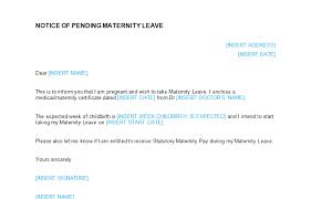 Example Of Maternity Leave Letter For Employer 12 Reinadela Selva