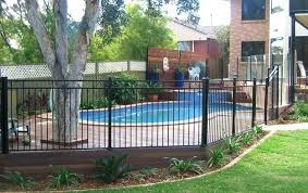 pool fence black aluminium fencing spigots bunnings height extensions pool fence