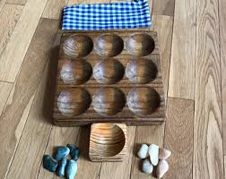 Game With Rocks And Wooden Board Tic tac toe stones Etsy 17