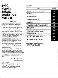 2005 mazda tribute repair shop manual original Mazda Tribute Wiring Diagram Mazda Tribute Wiring Diagram #38 2005 mazda tribute wiring diagram