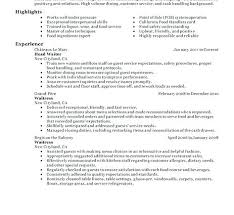 Serving Resume Example Adobe Banquet Server Resume Server Resume
