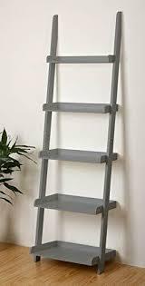 ehemco 5 tier leaning ladder wall shelf