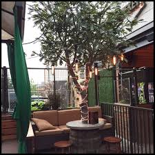 large artificial outdoor trees