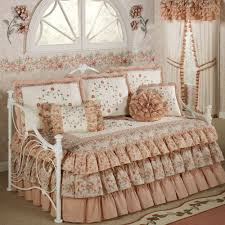Small Picture Bedroom Enchanting White Ruffle Comforter For Bedroom Decoration