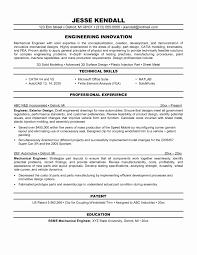 Resume Format For Mechanical Fresh Fresher Mechanical Engineer