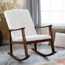 Rocking Chair Design, Best Glidder Small Rocking Chairs Perfect Wooden  Material Simple Window Shade White