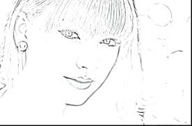 elegant taylor swift coloring pages for celebrity red black and white 71 color