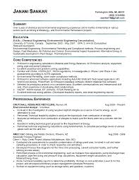 Environmental Engineer Sample Resume 2 Resume Sample Environmental  Engineering Frizzigame