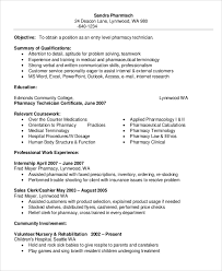 Pharmacy Tech Resume Template Extraordinary Resume Sample For Pharmacy Technician Cute Sample Of Pharmacy