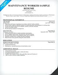 Sample Resume For Maintenance Worker Www Nmdnconference Com
