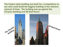 chrysler building dimensions. the empire state building was built for a competition to see who could build biggest chrysler dimensions k
