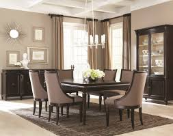 Modern High Back Chairs For Living Room Contemporary White Dining Room Elegant Formal Table Decoration