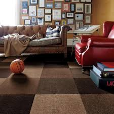 carpet tile design ideas modern. Brown Sofa And Red In The Living Room With Carpet Tiles Wall Tile Design Ideas Modern O