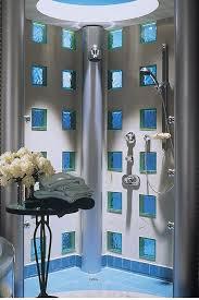 glass block bathroom wall ideas designs