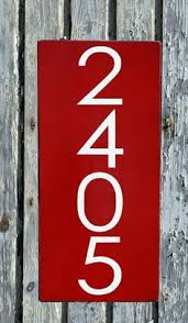 Wood Address Signs Outdoor Decor Address Sign Modern House Numbers Signs Outdoor Plaques Industrial 32