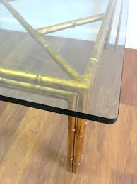 coffee table vintage gilded faux bamboo square me