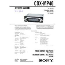 cdx for ioffer sony cdx mp40 service manual by mauritron 231