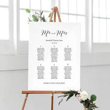 Wedding Seating Chart Template Printable 11x17 And A3 Sizes Instant Download Sweet Bomb Edit Print Edit In Word