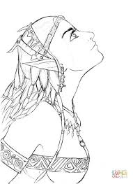 Small Picture Elf Girl Portrait coloring page Free Printable Coloring Pages