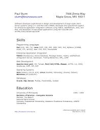 Resume Unix Job. Software Developer Resume Template