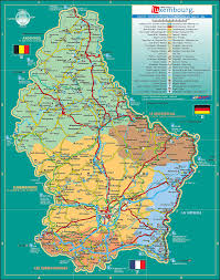 luxembourg tourist maptravel map of luxembourg